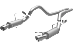 MagnaFlow Dual Split Rear Exit Stainless Cat Back Exhaust 2013-2014 Ford Mustang GT V8