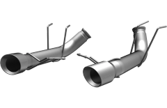MagnaFlow Dual Split Rear Exit Stainless Axle- Back Exhaust 2013-14 Ford Mustang 5.0