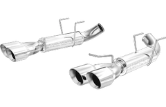 MagnaFlow Dual Split Rear Exit Axle-Back Stainless Back Exhaust 2011-2012 Mustang V8 5.0