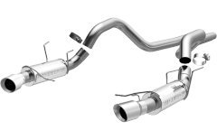 MagnaFlow Dual Split Rear Exit Stainless Cat Back 2011-2012 Ford Mustang 5.0