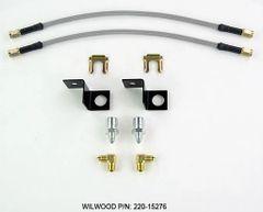 WILWOOD Stainless Steel Braided Flexline REAR Brake Hose Kit
