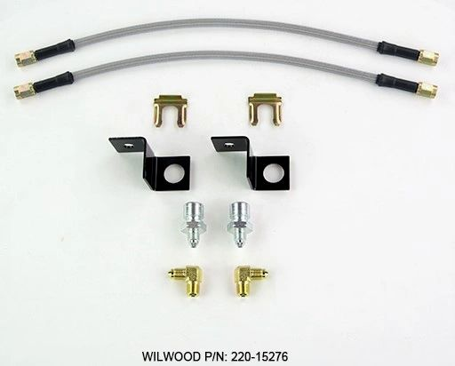 WILWOOD Stainless Steel Braided Flexline REAR Brake Hose Kit