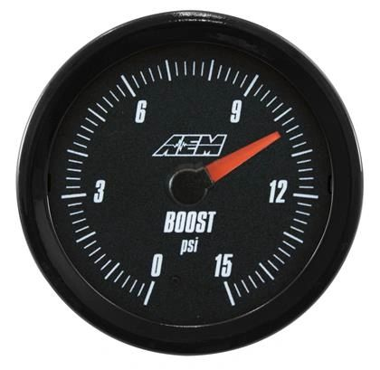 AEM Analog 0 to 15psi Boost Gauge
