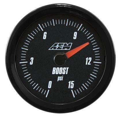 AEM Analog 0 to 15psi Boost Gauge
