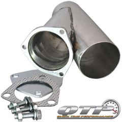 "QTP Stainless Steel Exhaust Cutout Y-Pipe - Sizes 2.25"" to 4.0"""