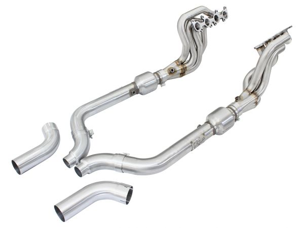 AFE Power Twisted Steel Headers and Pipes - 2015-2020 Mustang GT 5.0L