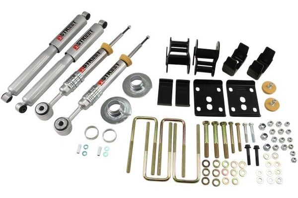 Belltech Lowering Kit (+1in to -3in Front. -4in Rear) - 2011-2013 Ford F150