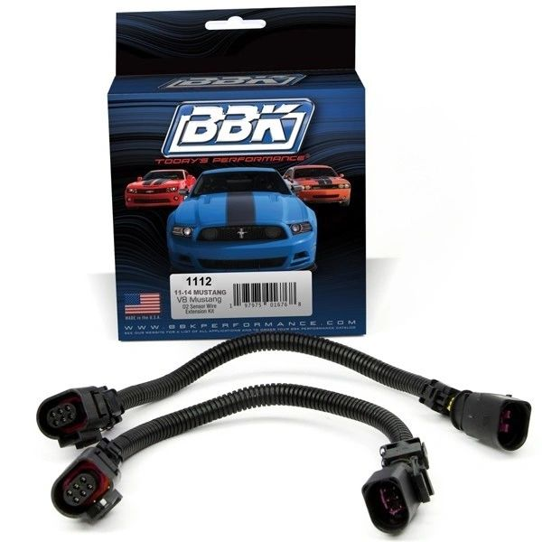 BBK MUSTANG 5.0 FRONT O2 EXTENSIONS - 12 IN. (2011-14)