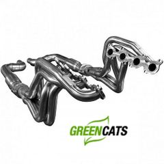"KOOKS 1-7/8"" x 3"" Long Tube Headers W/Green Catted Connection - 2015-17 Mustang GT 5.0L"