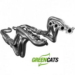 "KOOKS 1-3/4"" x 3"" Long Tube Header W/ Green Catted Connection - 2015-17 Mustang GT 5.0L"