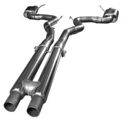 "KOOKS OEM to 3""Cat Back Exhaust w/ H-Pipe & Polished Tips - 2015-17 Mustang GT 5.0L"