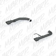 "MBRP Pro Series 2.5"" BLACK Axle-Back MUFFLER DELETE - 2015-2017 Ford Mustang GT 5.0L"