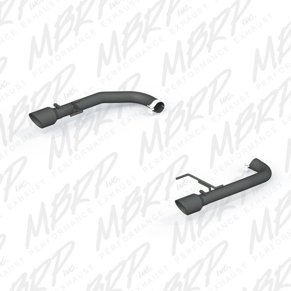 """MBRP Pro Series 2.5"""" BLACK Axle-Back MUFFLER DELETE - 2015-2017 Ford Mustang GT 5.0L"""
