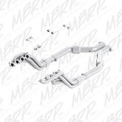 "MBRP 1-7/8"" X 3"" Long Tube Headers & Catted Mid-Pipes Kit - 2015-2018 Mustang GT 5.0L"