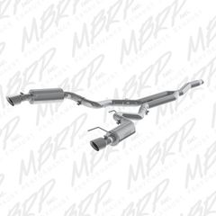 """MBRP Race Version - 3"""" Cat-Back Exhaust - 2015-2018 Mustang EcoBoost 2.3L"""