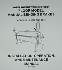 PEXTO MANUAL BENDING BRAKES 816, 1018 AND 1016