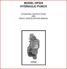 PEXTO MODEL HP520 HYDRAULIC PUNCH BOOK