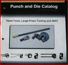 PEXTO PUNCH AND DIE CATALOG W/ PRICES
