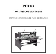 PEXTO G52 FOOT GAP SHEAR