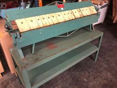 Used Connecticut 4 ft x 16ga Box & Pan Brake and Stand