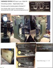 Used HARDNESS TESTER SATO Made In Japan Model 3R