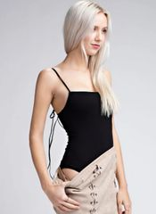 Honey Punch Square Neck/Tie Bodysuit