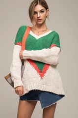 Moon Rover Chevron Pattern Sweater