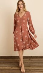 Spanish tile midi dress