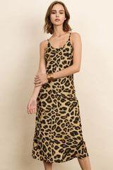 Midi length animal print dress