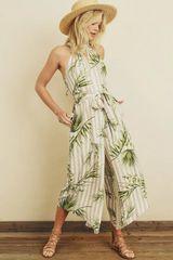 Vintage floral print jumpsuit