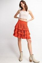 Triple Ruffle Flyaway skirt