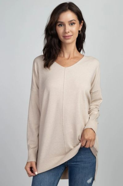 V Neck Sweater Tunic
