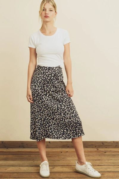 Panther Pattern Slip Skirt