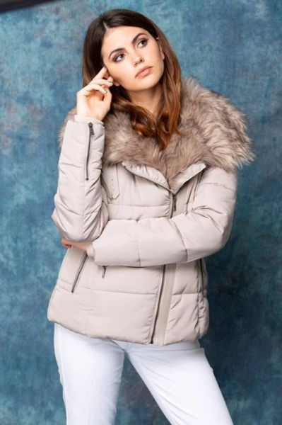 Faux Fur Trimmed Jacket