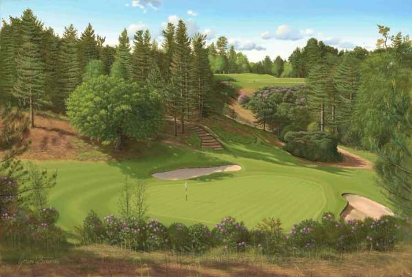 "Original Oil Painting, size 24x36"". Woburn Golf Club, England"