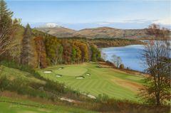 "Original Oil Painting, size 20x30"". The Carrick, Loch Lomond, Scotland."