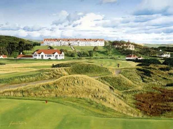 Turnberry Hotel and Clubhouse, Scotland.