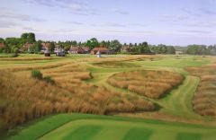 Royal St Georges, England. 18th Hole. Official Championship Print.