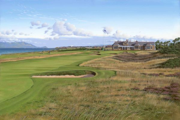 Royal Troon, Scotland, 18th Hole. Official Open Championship Print.