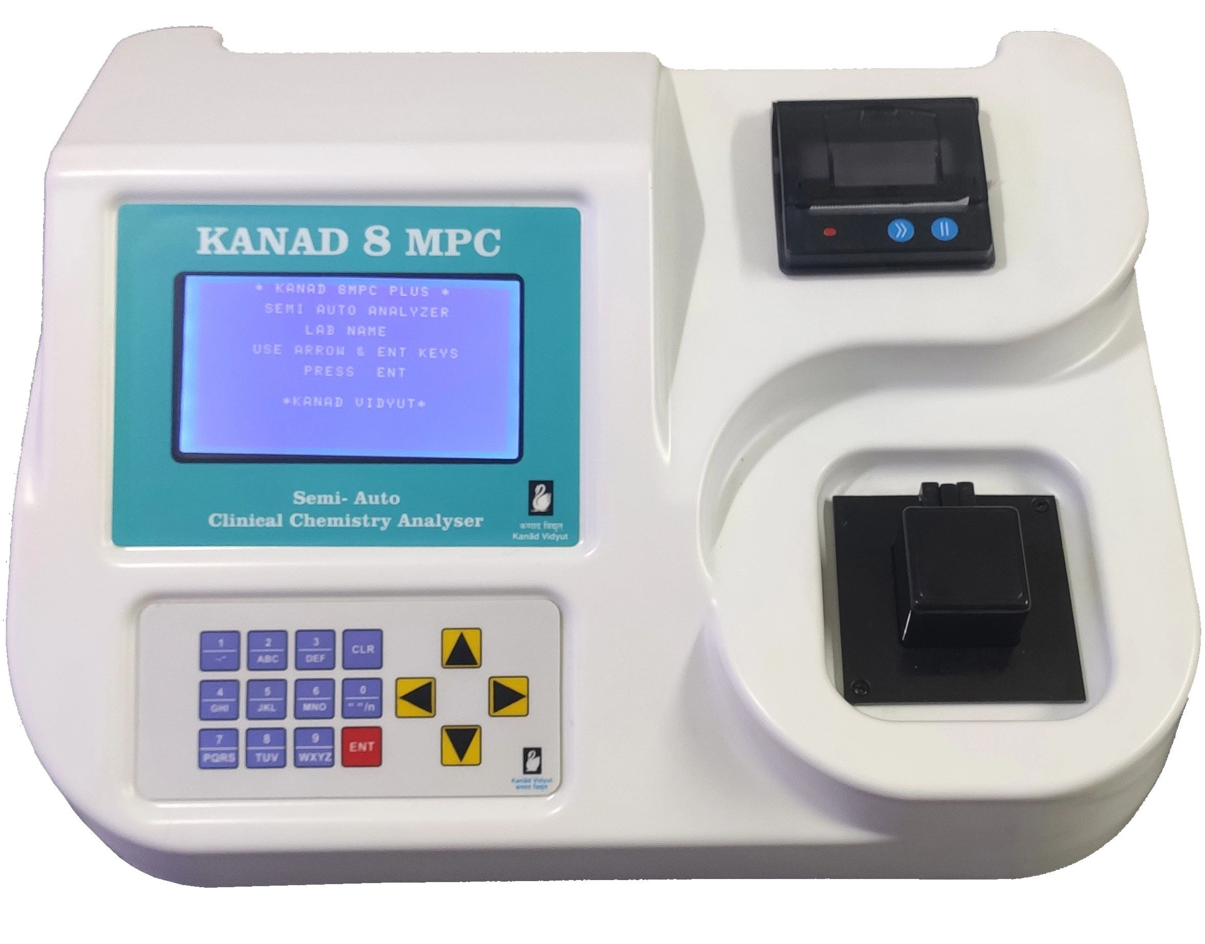 Kanad 8MPC Plus Semi Auto analyser Clinical Biochemistry  Turbidity Electrolytes ELISA readings