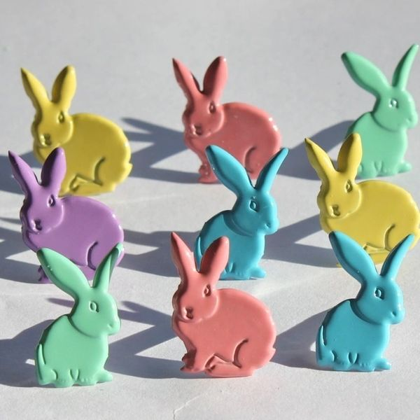 Rabbits (pastel) brads by Eyelet Outlet