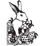 "Easter Bunny Embossing Folder (4.25""x5.75"") by Darice"