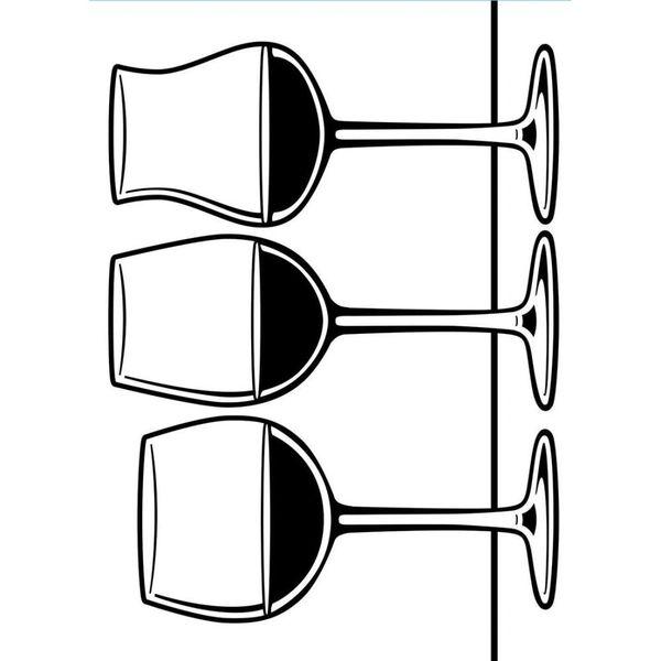 "Wine Glasses Embossing Folder (4.25""x5.75"") by Darice"