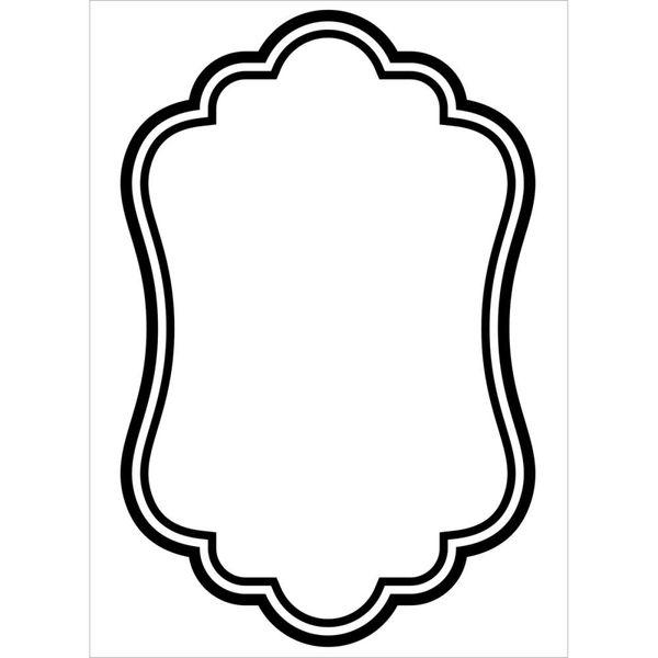 "Oval Border Embossing Folder (4.25""x5.75"") by Darice"