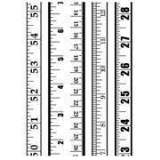"Rulers Embossing Folder (4.25""x5.75"") by Darice"