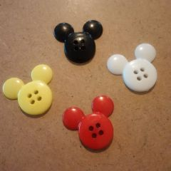 Mickey Mouse buttons in traditional colours.