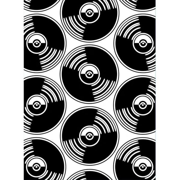 "Records Embossing Folder (4.25""x5.75"") by Darice"