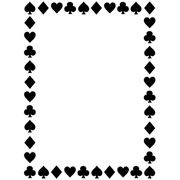 "Card Suites Border (4.25""x5.75"") embossing folder by Darice"