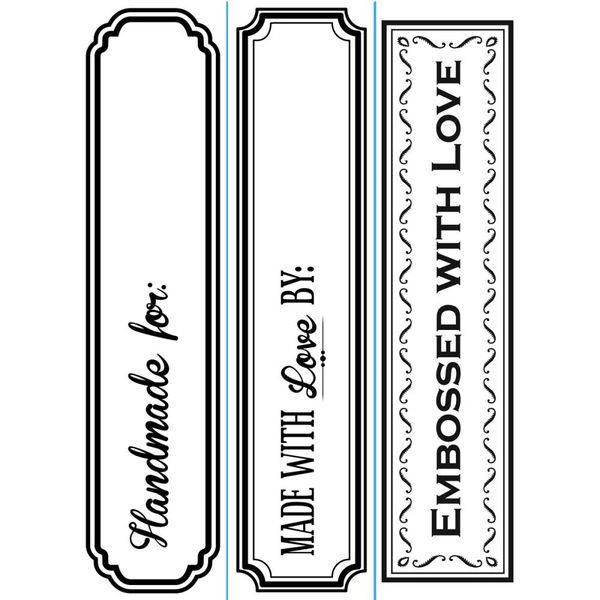 "Handmade By Trio (4.25""x5.75"") embossing folder by Darice"