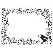 "Bird in Corner Border Embossing Folder (4.25""x5.75"") by Darice"